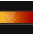 Background with heart pulse monitor vector