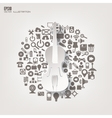 Music instruments icon flat abstract background vector