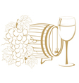 Cask wine vector