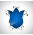 Blue shield vector