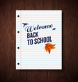 Back to school card wooden background typography vector