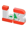 Internet top-level domain of lebanon vector