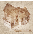 Architectural building model vector