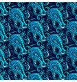 Decorative blue flower pattern vector
