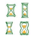 Set of vintage hourglass vector