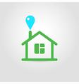 Eco house icon 02 vector