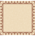 Beige floral background with ornamental frame vector