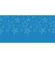 Starfish blue texture horizontal seamless pattern vector