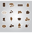 Chocolate stickers set eps10 vector