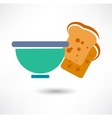 Bowl of white rice detailed icon series of food vector