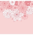 Abstract floral background flower element for vector