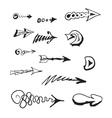 Hand draw arrows set vector
