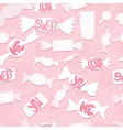 Sweets with love ordsseamless background vector