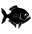 Piranha sign vector