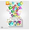 Full battery icon application buttonsocial media vector