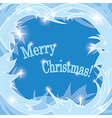 Blue frosty background - merry christmas vector