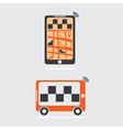 Taxi online flat design vector