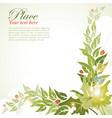 Floral frame with leaf vector