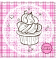Hand drawn cake vector