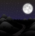Night landscape in the full moon vector