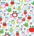 Apple strawberry pattern vector