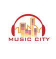 Music city concept design template vector