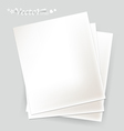 White papers ready for your message vector