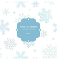 Blue christmas snowflakes textile texture frame vector