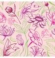 Retro floral pattern vector