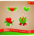 I love nature stickers vector