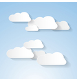 Paper clouds on blue sky vector