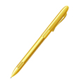 Yellow pen on a white background isolate vector