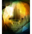 Banner for business with the city and reflection vector