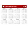 Calendar 2014 italy type 9 vector