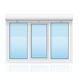 Plastic window with rolling shutters 05 vector
