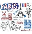 France symbols as funky doodles vector
