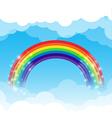 Rainbow cloud and sky background vector