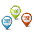 3d click here pointer vector