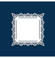 Blue and lace border vector