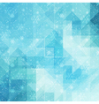 Blue winter background with triangle texture vector