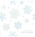 Blue christmas snowflakes textile texture frame vector