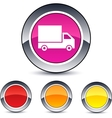 Delivery round button vector