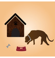 One dog and doghouse eps10 vector