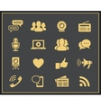 Media and social icons vector