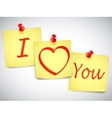 I love you notes vector