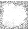 Background with spiderweb vector