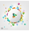 Play button icon application buttonsocial media vector