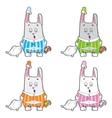 Sleepy bunny pajamas vector