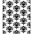 Pattern baroque with heart vector