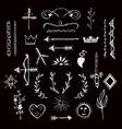 Various hand drawn design elements vector